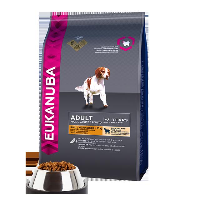Adult Small And Medium Breed Dry Dog Food Lamb Rice Eukanuba