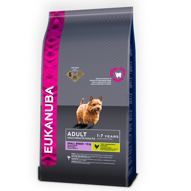 EUKANUBA ADULT DRY DOG FOOD FOR SMALL BREED CHICKEN