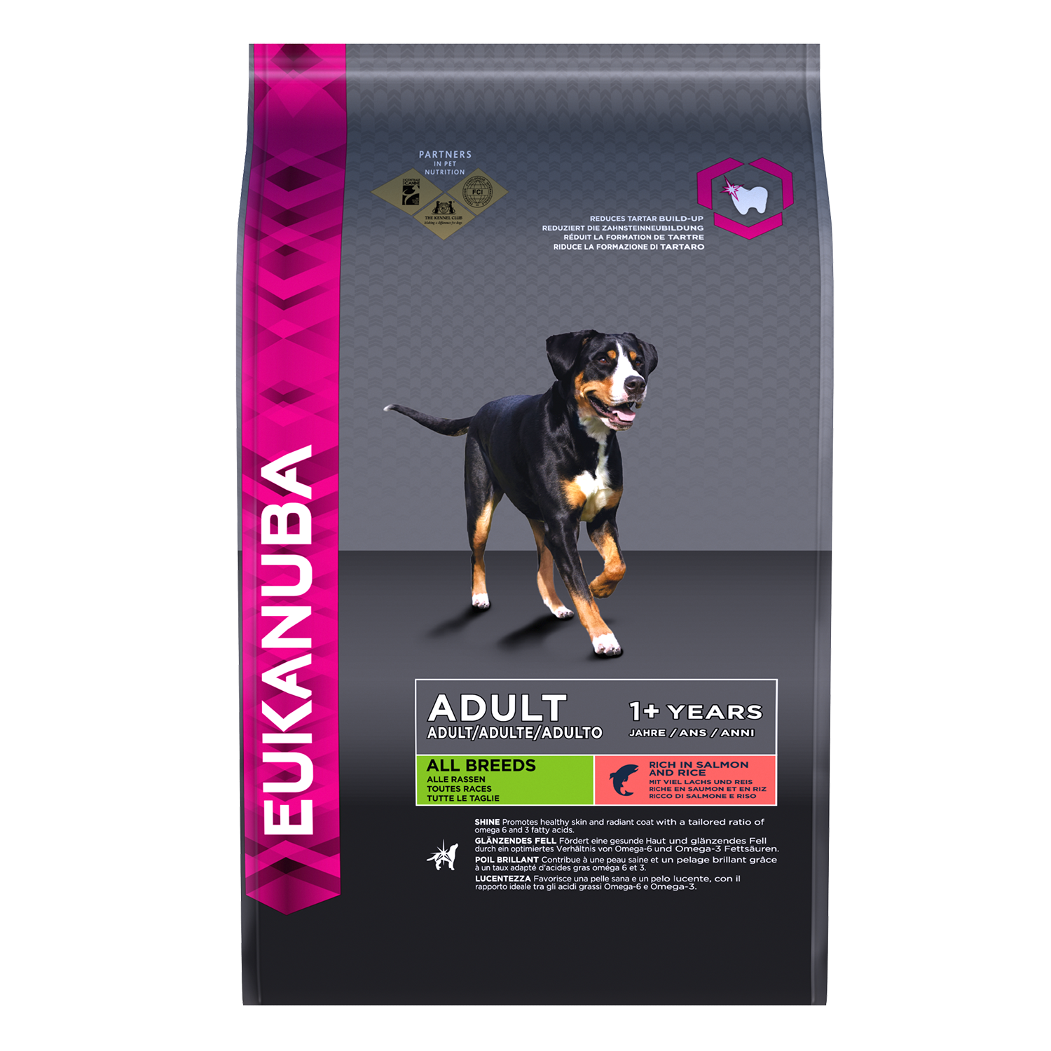 EUKANUBA Adult Dry Dog Food For All Breeds Salmon Rice RTP FOP