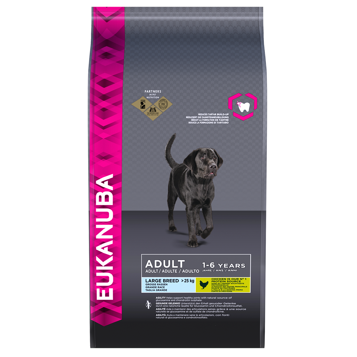 Eukanuba Adult Dry Dog Food For Large Breed Chicken RTP FOP