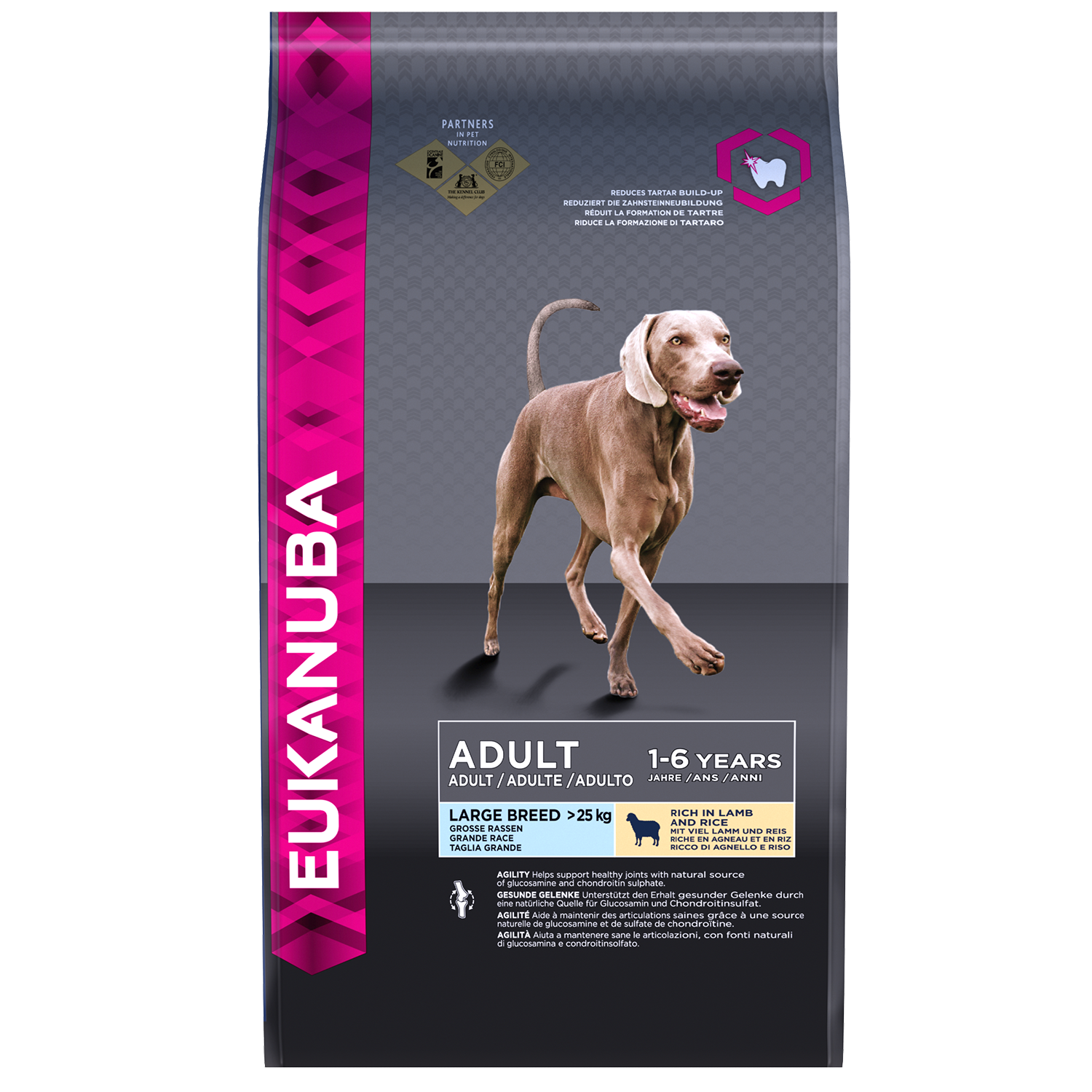 EUKANUBA Adult Dry Dog Food For Large Breed Lamb Rice RTP FOP