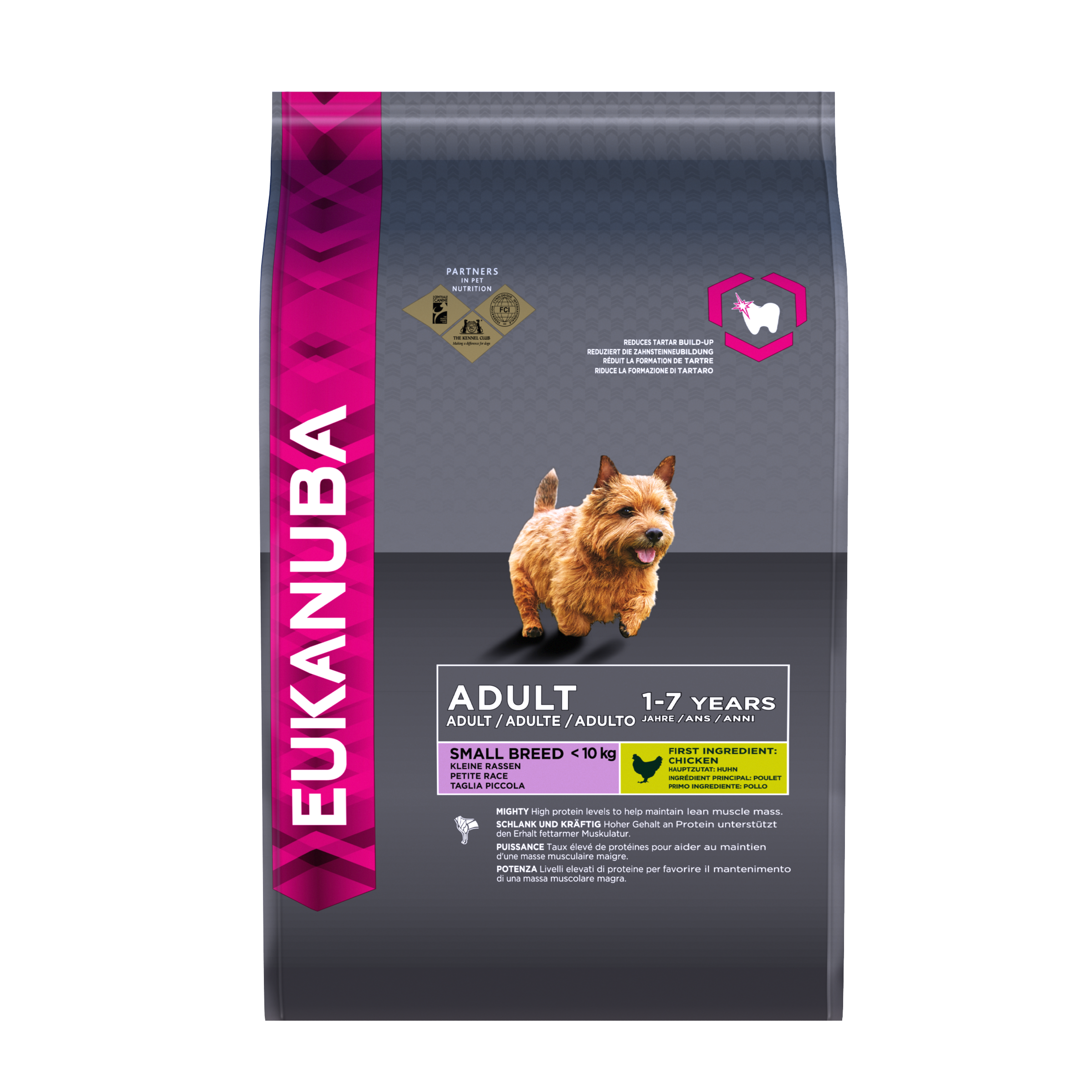 EUKANUBA Adult Dry Dog Food For Small Breed Chicken RTP FOP