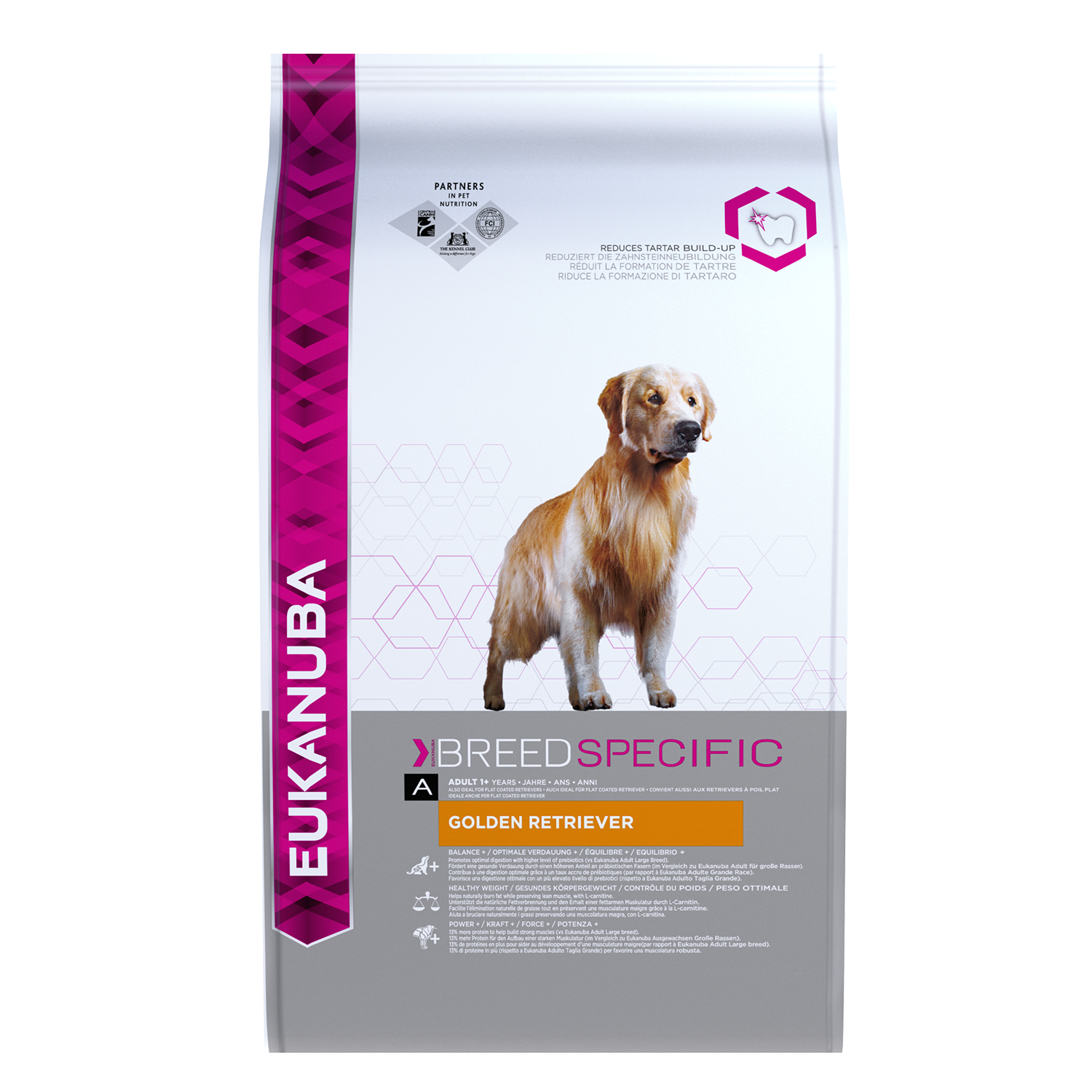 EUKANUBA Adult Dry Dog Food For Golden Retriever Chicken RTP FOP