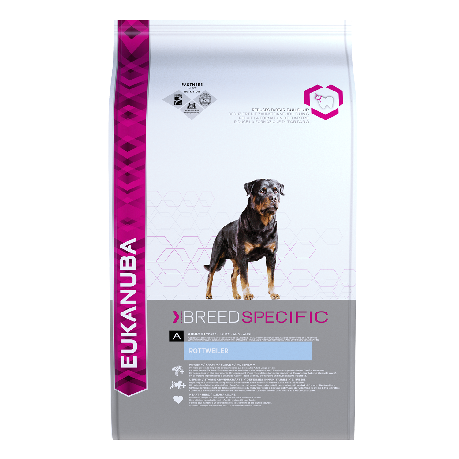 Eukanuba Adult Dry Dog Food For Rottweiler Chicken RTP FOP