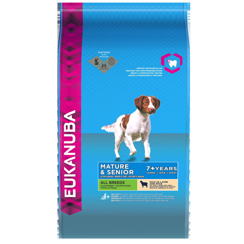 Eukanuba Puppy Food >> EUKANUBA Mature & Senior Dry Dog Food For All Breeds, Lamb & Rice - Dog Food,Nutrition and Breed ...