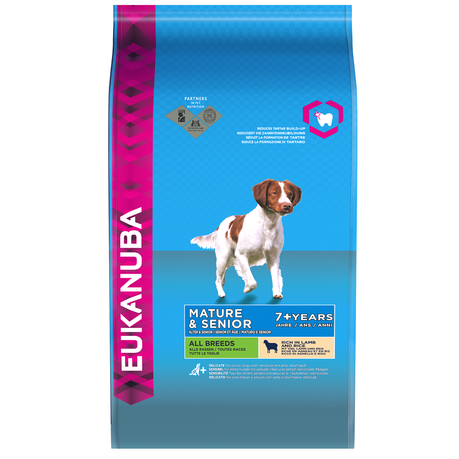 EUKANUBA Mature Senior Dry Dog Food All Breeds Lamb Rice RTP FOP