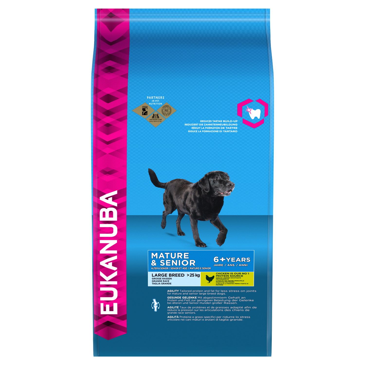 EUKANUBA Mature Senior Dry Dog Food For Large Breed Chicken RTP FOP