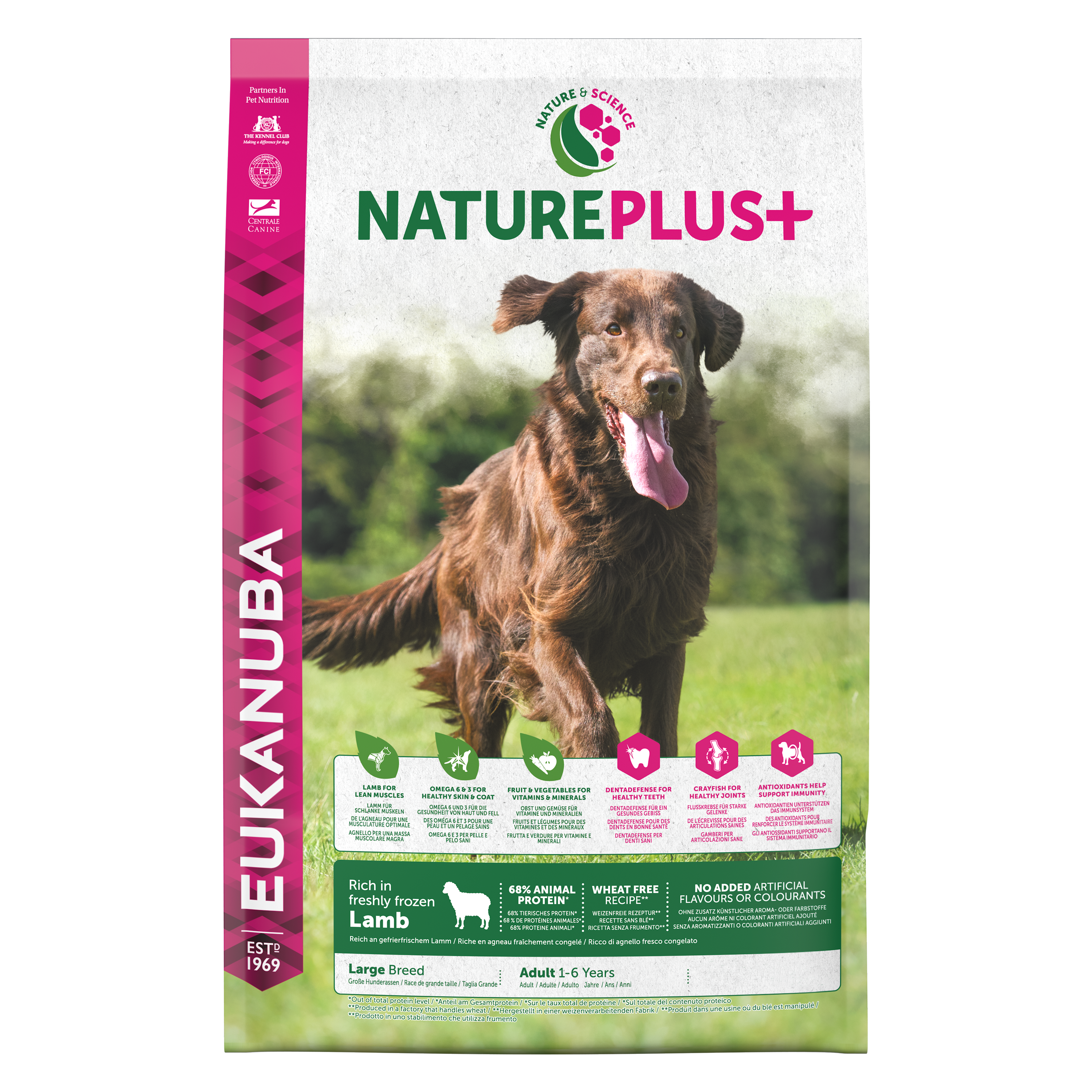 Nature Plus Adult Large Breed Lamb FOP