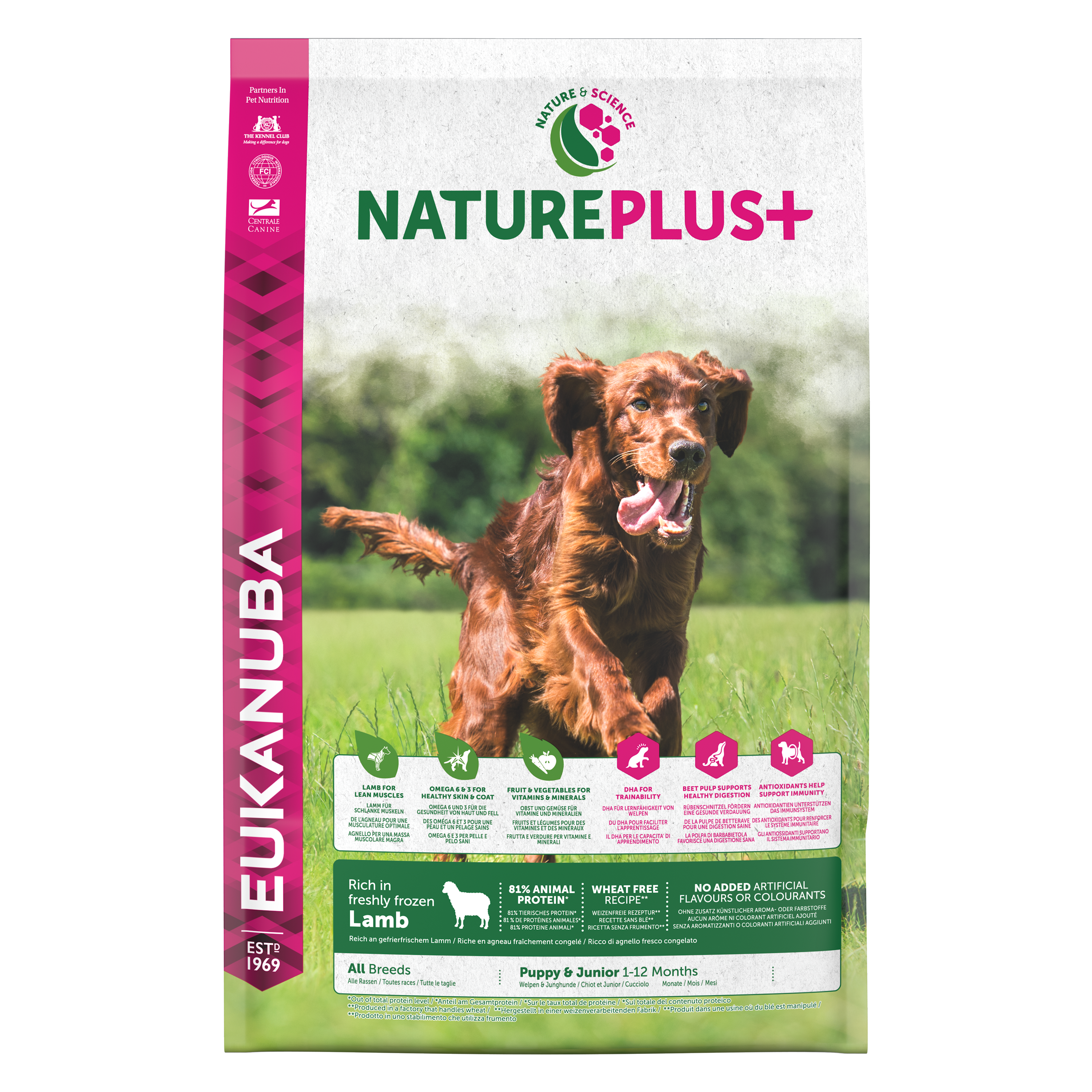Nature Plus Puppy Lamb FOP