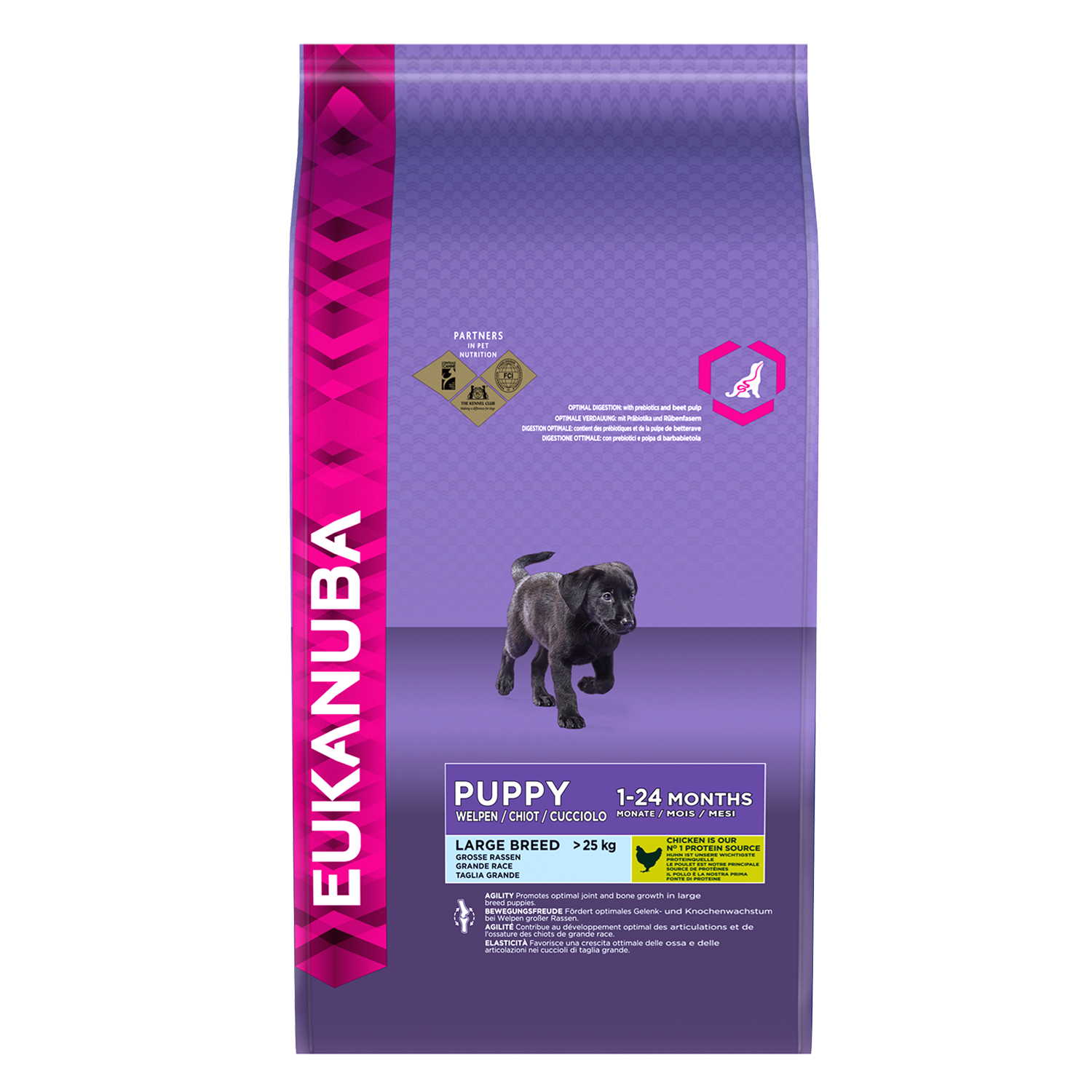 EUKANUBA Puppy Dry Dog Food For Large Breed Chicken RTP FOP