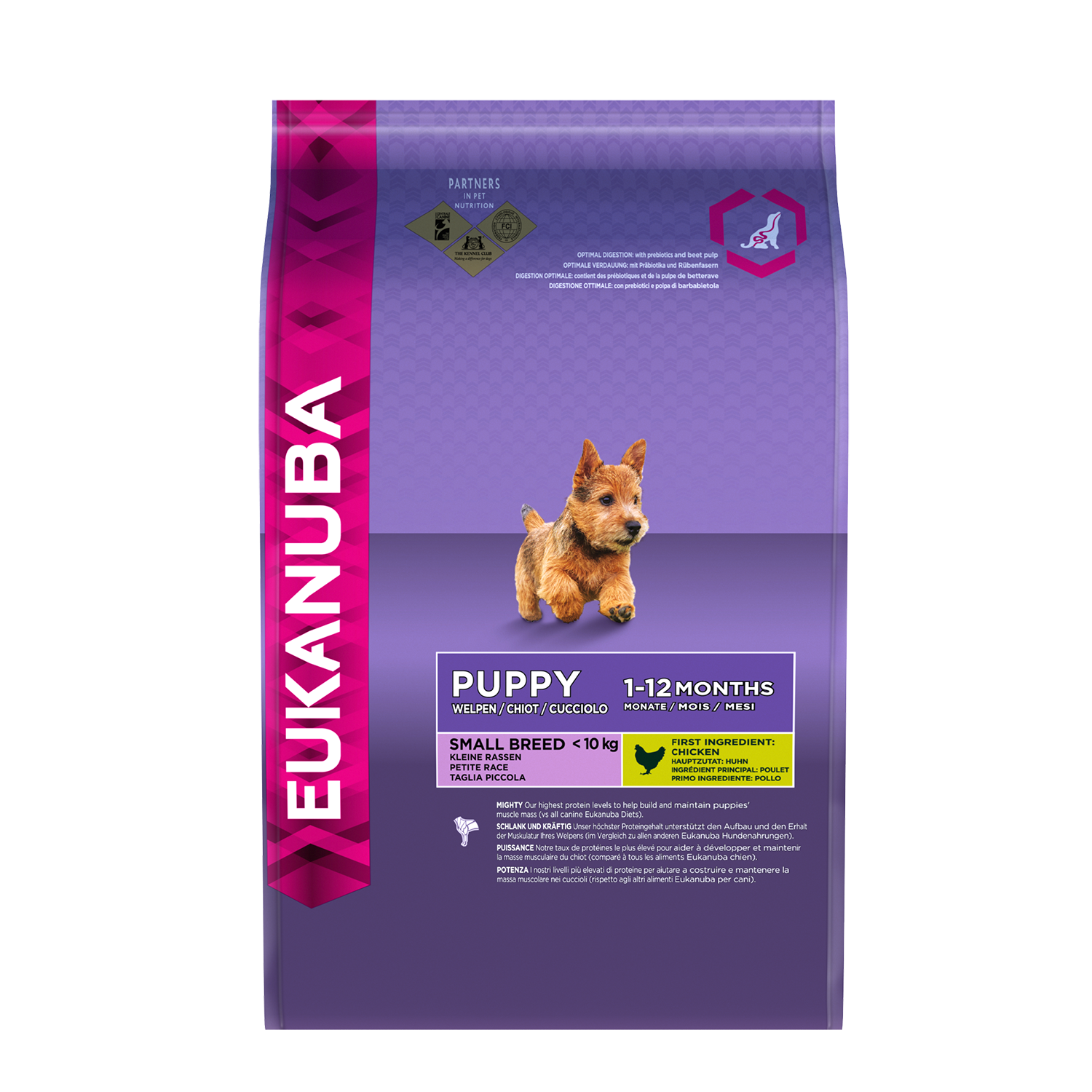 Eukanuba Puppy Food >> EUKANUBA Puppy Dry Dog Food For Small Breed, Chicken - Dog Food,Nutrition and Breed Information ...