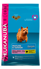 EUKANUBA Mature Senior Dry Dog Food For Small Breed Chicken RTP FOP
