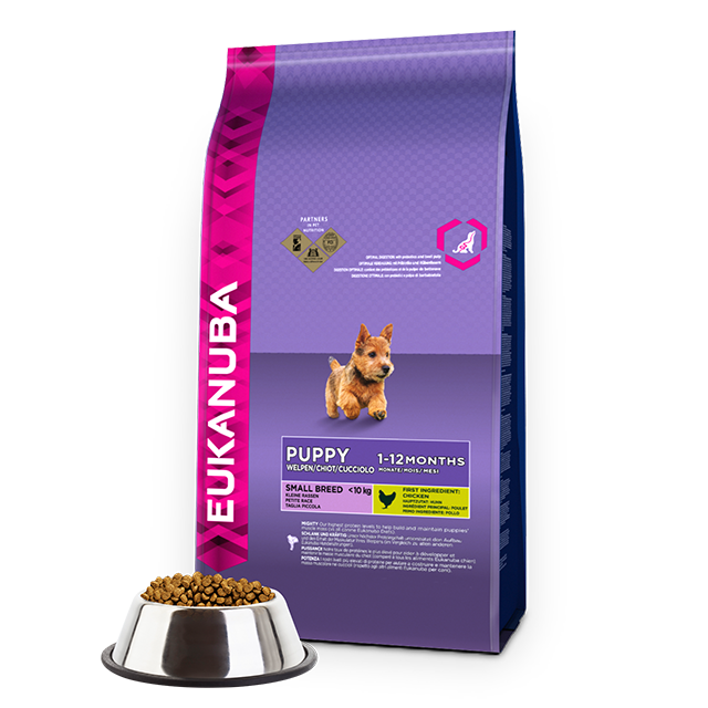 EUKANUBA Puppy Dry Dog Food For Small Breed Chicken RTP FOP